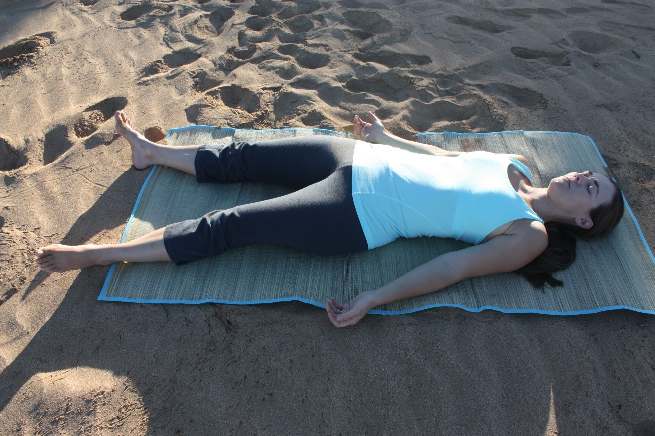 Pelvic Floor Relaxation Corpse Pose